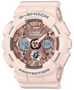 650e6229cf4 Women s Analog-Digital Blush S Peach Resin Strap Watch 46mm GMAS120MF-4A. G  Shock WatchesAnalog WatchesCasio ...
