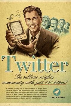 Retro ad for Twitter