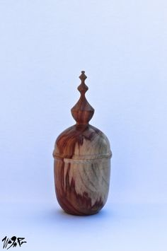 Wood Turned Box made of Carob wood by WagnerArtStudio