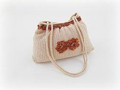 Crocheted handbag amber bag amber handbag crochet by styledonna