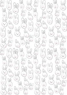 Free Printable Bunny Gift Wrapping Paper ♥ Loved by Easter Printables, Free Printables, Cosas American Girl, Toys Drawing, Textures Patterns, Print Patterns, Paper Scrapbook, Doodles, Gift Wrapping Paper