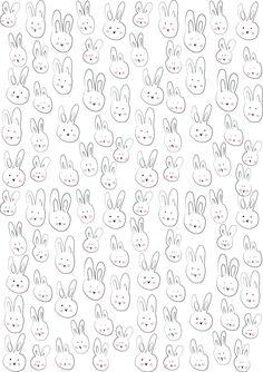 petits lapins (à imprimer - gratuit)