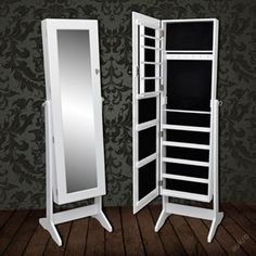 stojaci zrcadlo šperkovnice skříň