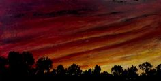 "Red sky at night... 12"" x 24"" Acrylic 2014  Getting ready for my one woman show in Jan 2015 in Naples FL.  The show is called ""Seascapes and Sunsets"""