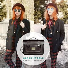 Bolso college Sarahworld by Sara Navarro  www.sarahworld.com #sarahworld #bolsocollege #streetstyle #retrovintage #lookbook #ecocool #ecochic #ecofashion #madeinspain