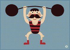 #Poster #Strong #circus #men 50x70 #kidsroom by Bora from www.kidsdinge.com https://www.facebook.com/pages/kidsdingecom-Origineel-speelgoed-hebbedingen-voor-hippe-kids/160122710686387?ref=hl