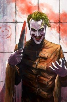The Joker by Carsten Biernat (like the Watchmen smiley face in the background too)