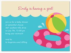 Baby Shower Pool Party Ideas find this pin and more on little swimmer baby shower pool party Pool Party Baby Shower Pool Party Invitations Its A Summer Baby Shower Splash