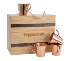 Moscow Mule Mugs are perfect for making any occasion just a bit more special. Rose Gold Decor, Copper Decor, Copper Pots, Moscow Mule Mugs, Reusable Tote Bags, Handbags, Purses, Box, Kitchen