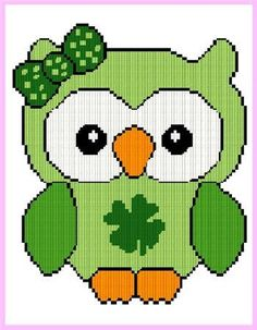 Everything Plastic Canvas - St Patrick's Girl Owl