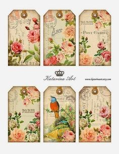 Rice Paper for Decoupage  Scrapbooking Sheet Craft Vintage Beauty Rose ART G46