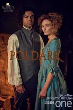 Promotional for BBC series POLDARK. Aidan Turner as Ross & Eleanor Tomlinson as Demelza.
