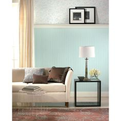 Martha Stewart Living Beadboard Paintable Removable Wallpaper at The Home Depot - Mobile Beadboard Wainscoting, Wainscoting Nursery, Dining Room Wainscoting, Wainscoting Styles, Bathroom Wainscotting, White Beadboard, Wainscoting Panels, Paintable Textured Wallpaper, Embossed Wallpaper