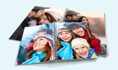 Personalized photo album comes in a variety of themes to remember family, friends, and special events Personalized Photo Albums, Quality Photo Prints, Upload Pictures, Vinyl Cover, Photo Library, Photo Book, Special Events, Spiral, Your Photos