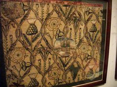 More needlework from Mary Queen of Scots.  She may have worked this one with Bess of Hardwick.