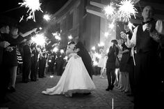 wedding photos with sparklers | Wedding Send off Sparklers 550x365 Sparkler Wedding Inspiration
