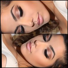 Pretty nude wedding makeup