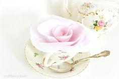 DIY No sew fabric rose