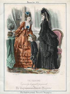 Casey Fashion Plates Detail | Los Angeles Public Library Englishwoman's Domestic Magazine Date: Friday, December 1, 1871