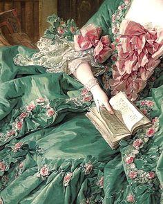 detail from the portrait of Madame de Pompadour