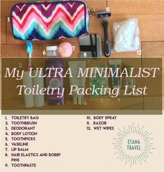 Do you would like to know how to travel with less? Here's our ultimate backpacking minimalist travel packing list with a complimentary list for you ..... Frame Of Mind, Wet Wipe, Minimalist Home Decor, Packing List For Travel, Your Location, Body Spray, Toiletry Bag, Body Lotion, Neutral Colors