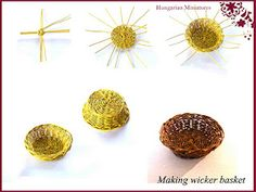 How to make miniature wicker basket. Great to make to use when making an…