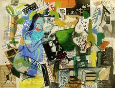 "I N S P I R A T I O N.  Jose Manuel Merello.- ""Blue woman"" (114 x 146 cm)   ART CONTEMPORAIN. http://www.merello.com"