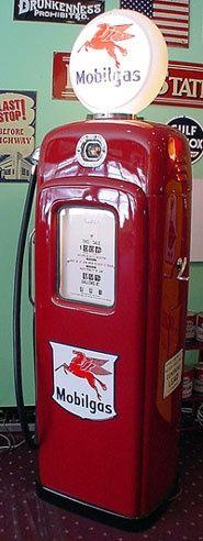 Mobil Gas Pump circa 1930 #Recipes