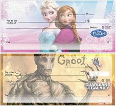 Ooooh Frozen & GotG checks! !::   Costco offers many personal finance services, including personalized checks.