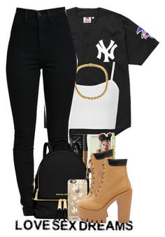 """""""L$D #359"""" by nyc-chi-inme ❤ liked on Polyvore featuring Supreme, Topshop, MICHAEL Michael Kors and Casetify"""