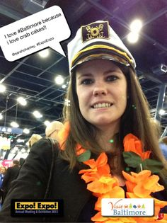 I love #Baltimore because i love crab cakes!! @sarahohanley, #ExpoExpo