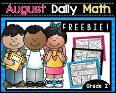 August Daily Math ~ FREEBIE!This FREEBIE is a my way of saying THANK YOU for helping me reach 4,000 followers!  **Just Updated!! … 2nd Grade Classroom, 1st Grade Math, Daily 3 Math, How To Get Credit, August Themes, Teaching Second Grade, Small Group Activities, Primary Maths, Common Core Math