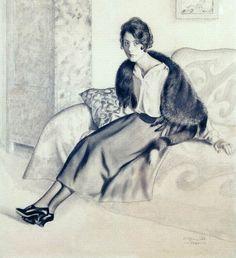 Boris Kustodiev, Portrait of O.P. Myasoedova