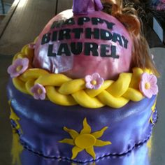 Bottom half of #tangled #cake