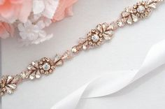 ROSE GOLD SALE Wedding Belt, Bridal Belt, Sash Belt, Crystal Rhinestones sash be