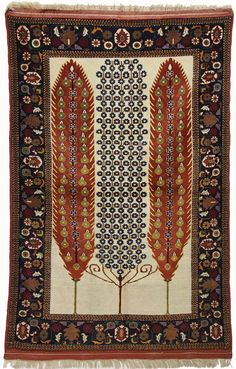 192x122 cm Afghan Nomaden Belotsch Orientteppich Wandteppich lebensbaum Qutan