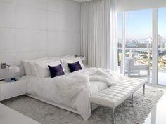 High Rise Condo - Miami, FL contemporary white bedroom decor ideas