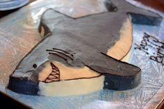 homemade shark birthday cake