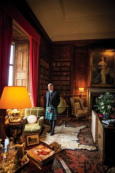 Photos: Scotland's Highlands and Islands - Scott Morrison, managing director of Dunrobin Castle, in the library wearing a kilt of Sutherland tartan.   ... http://scotfin.com/scot-fin-novel/ says, I have a Scottish heritage; never done the kilt thing though.