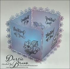 Crafting with Darsie: Floral Vellum Lantern...JustRite Papercraft Morning Splendor with Spellbinders Triple Floral
