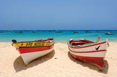 Santa Maria beach on the island of Sal, Cabo Verde