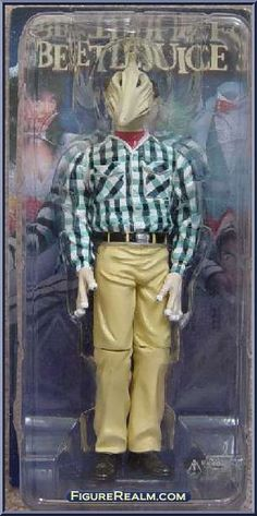 NECA Beetlejuice Stretched Face Adam Figure 2001