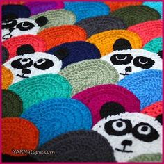 Roly Poly Panda Quilt - free crochet pattern and video tutorial at YARNutopia by Nadia Fuad.