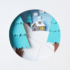 I'm Margaret Scrinkl, paper artist and stop motion animator from Russia. Paper is one of my favorite material for work. I like create my own tiny world using paper layers and texture. 3d Paper Art, Cool Paper Crafts, Paper Artwork, Paper Artist, Foam Crafts, Kirigami, Paper Plants, Diy Papier, Paper Illustration