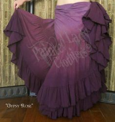 """Gypsy Rose"" 18 Yard Petticoat Skirt  You can order yours here:  http://www.paintedladyemporium.com/Shop-Here.html"