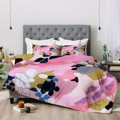 Laura Fedorowicz Pink Cloud Comforter | Deny Designs