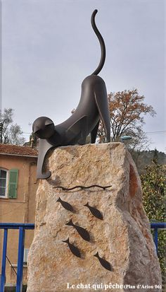 The fishing cat by Jean-Pierre Augier