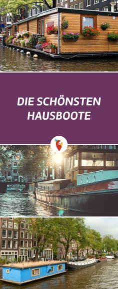 Hier findest du die schönsten #Hausboote - alle Infos via Urlaubspiraten.de