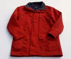 Lands End Polartec Jacket Mens Red Zip Velcro  Mens Size Medium Tall #LandsEnd #BasicJacket