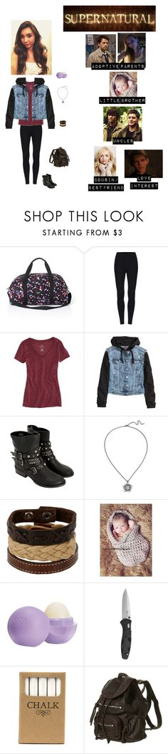 """""""Supernatural: Amelia Donovan-Winchester (Read the d!)"""" by kelseystan97 ❤ liked on Polyvore featuring Guide London, Victoria's Secret PINK, American Eagle Outfitters, H&M, Hot Topic, Aéropostale, Eos and Jayson Home"""